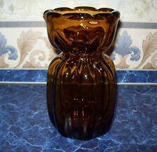 Very Rare Vintage USSR 1950's, Gorgeous large heavy thick glass vase. Original
