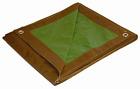 10x20 Multi-Purpose Brown/Green Medium Duty DRY TOP Poly Tarp 10 Feet x 20 Feet