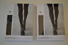 Lot of 2 Capezio New York BlackDiamond Texture Tights, Size B, L211012