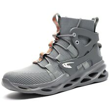 Mens Work Safety Steel Toe Ankle Mid Boots Wide D Anti Puncture Esd Hiking Shoes