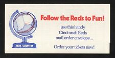 Cincinnati Reds--1979 Ticket Order Form/Home Schedule