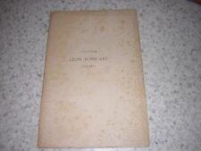 1892.plaquette obseques Léon Poincaré.médecine  Nancy
