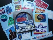 Vintage Style Air Travel Luggage Labels Set Of 15 Stickers In Gift Tin