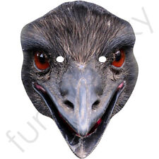 Emu Bird Animal Card Cardboard Mask - All Our Masks Are Pre-Cut!