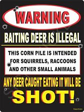 Warning Hunting Sign -Baiting Deer Funny Metal Sign hunters gift, DUCK COMMANDER