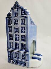 Delfts Blauw Delft Blue Ashtray Incense Burner Canal House Handpainted #680