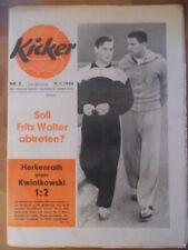 KICKER 2 - 9.1. 1956 * Herkenrath Kwiatkowski Essen-BVB 1:2 Düsseldorf-Schalke