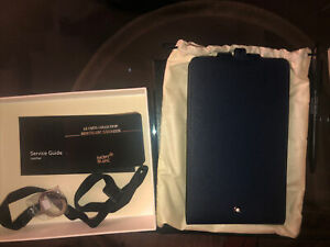 NEW!Montblanc Sartorial Phone Holder With View Carry Me Indigo 116381.