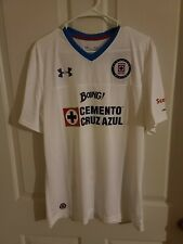 Under Armour Cruz Azul Away Jersey 1275137-101 Men's Size L White/blue New