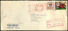 Bolivia 1988 Registered Airmail Commercial Cover To Austria #C39047