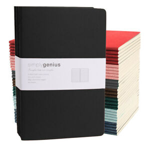 30pk Simply Genius A5 Soft Cover Writing Journal Travel Notebook Lined 5.5 x 8.3