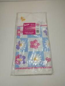 """Barbie's Celebration Table Cover Birthday Party Paper 54"""" x 89"""" Pink NEW Sealed"""