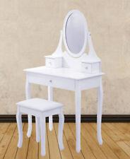 Schminktisch mit Spiegel und Hocker Schubladen Kommode Kosmetiktisch Tisch