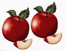 "4""-7"" Country apple apples fruit kitchen set wall safe sticker border cut out"