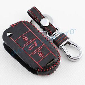 3 Button Key Fob Keyfob Holder Case Cover Trim For Peugeot 508 308 301 2008 3008