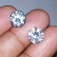 9.50 Ct Round Pair Zircon AAA +++ Beautiful Cambodian Gemstone