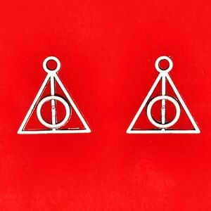 20 x Tibetan Silver Small Deathly Hallows Harry Potter Charms Pendants Beads