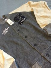 STAPLE NAVY VARSITY JACKET SZ L !!! NEW !!!