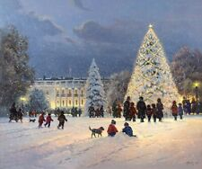 G. Harvey LIGHT UNTO THE WORLD 23x27 S/N Paper Print Christmas White House Art