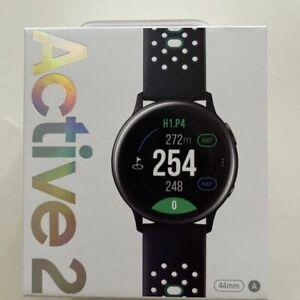 Samsung Galaxy Watch Active 2 Golf Edition 44mm WiFi Bluetooth GPS AquaBlack NEW