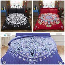 Ethnic Indian Asian Bohemian Mandala Print Duvet Cover Quilt Linen Bedding Set
