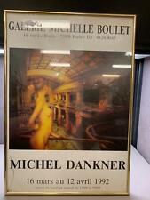 1992 Poster French Artist Michel Dankner at Galerie Michelle Boulet Framed