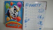 5 Einladungskarten inkl.Umschläge--Disney 101 Dalmatiner-Party-Kinder Geburtstag