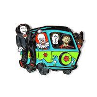 Horror Movie Pin Jigsaw Michael Myers Freddy Krueger IT Mystery Machine Pin