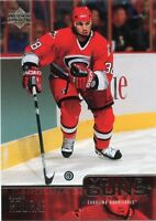 03-04 UPPER DECK YOUNG GUNS ROOKIE RC #460 ALLAN ROURKE HURRICANES *44591