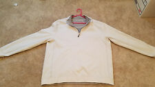 Tommy Bahama Mens Pull Over shirt 1/4 zip 100% Cotton Reversible   Grey/white LG