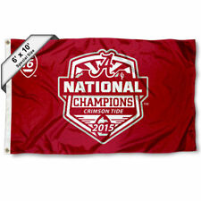 Alabama Crimson Tide 2015 National Champs 6' x 10' Large Flag