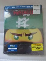 The Lego Ninjago Movie - Limited Edition Steelbook - Blu-Ray + DVD NEW/SEALED