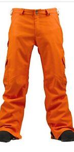 Burton Mens Cargo Orange Waterproof  Mountain  Ski Pants/ Trousers Size Large