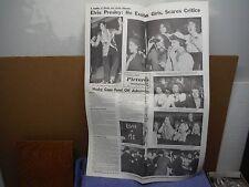 Elvis Presley Replica Newspaper Detroit Times 1957