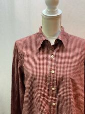 Abercrombie & Fitch Womens Button Up Red Plaid Long Sleeve Shirt Size L