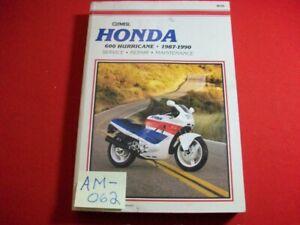 1987-1990 HONDA 600 HURRICANE - SERVICE, REPAIR & MAINTENANCE CLYMER SHOP MANUAL