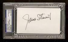 James Jimmy Steward 1941 Oscar Award Winner Signed Auto Index Card PSA/DNA