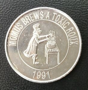 1991 Knights of Momus brews a toxic Roux  New Orleans Mardi Gras Doubloon