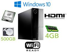 SUPER Veloce a Buon Mercato PC ASUS SFF PC Core 2 QUAD 3.00GHz 4 GB 500 GB Win 10 PRO