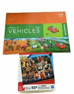 Toy Story 3 100 Piece Puzzle & History Of Vehicles 60 Piece Puzzle
