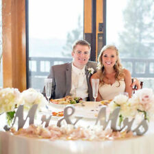 Mr and Mrs Letters Sign Wooden Standing Top Table Wedding Romantic Decorations