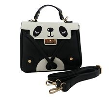 CUTE PANDA HANDBAG KAWAII Messenger Shoulder Long Strap Punk Rock Goth Emo  Bag 17aabacdab6e4