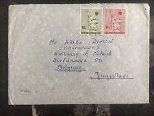 1991 Tirane Albania Cover Diplomatic Embassy Of Finland To Belgrade Yugoslavia