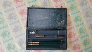 Vintage Venus Pencil Box With Contents. Inner Tray Very Good Used Condition.
