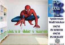 Spiderman Pared Adhesivo Childrens bedroom Super Héroe mural grande de la etiqueta de la pared.