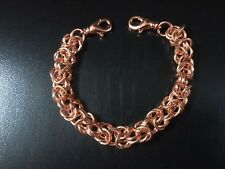 Medical ID  Bracelet   Copper Byzantine Chain Maille