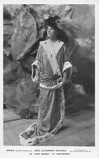 "Edwardian Theater Actress Miss Alexandra Carlisle ""Everywoman"" Fancy Hat Dress"