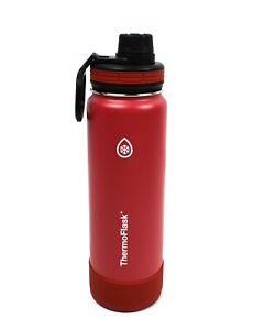 ThermoFlask Insulated Water Bottle with Protective Silicone Bumper 24oz / 710mL