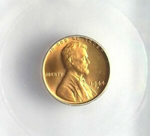 1944-D LINCOLN CENT ICG MS 67 RED LISTS FOR $130!!