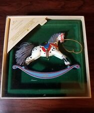 1984 HALLMARK ROCKING HORSE ORNAMENT CHRISTMAS 4TH in  This Collectible  Series.